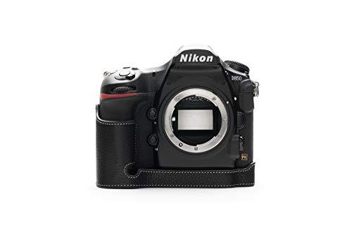 Zakao Kameratasche für Nikon D850, handgefertigt, Echtleder, Halbkameratasche für Nikon D850 mit Handschlaufe