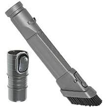 SPARES2GO accesorio cepillo para suciedad Tapicería Boquilla Kit de herramientas Set para todos los modelos de Dyson Aspirador Dusting Brush + Crevice