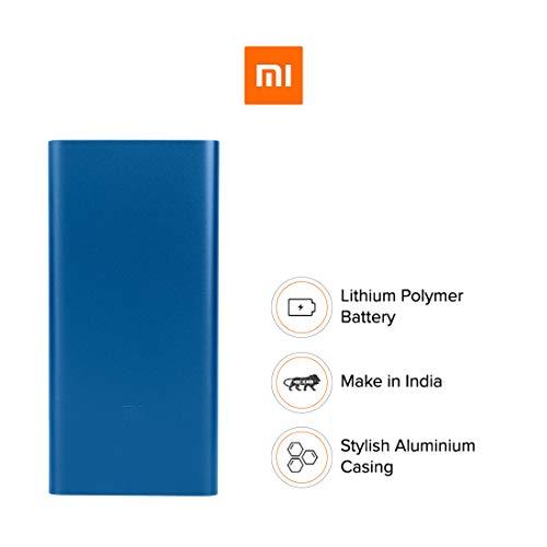 Mi 10000mAH Li-Polymer Power Bank 2i (Blue) with 18W Fast Charging Image 2
