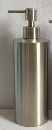 Bene K28-211 Seifenspender Lotionspender Duschgelspender Shampoospender Spülmittelspender, Edelstahl 18/8 (SUS304), Matt (550ml-SB63)