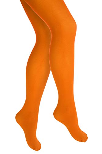 Thetru Kinder-Strumpfhose | Größe 140/152 | Blickdichte-Strumpfhose (orange)