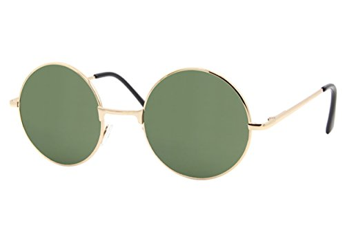 Cheapass Sonnebrille Rund John Lennon Silber Retro Vintage