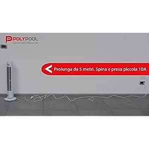 Poly Pool PP0382S Prolunga 250 V, Spina e Presa 10 A, Bianco, 5 m 31t0Tm2hwTL. SS300