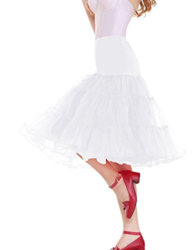Sarahbridal Damen Ballon Petticoat Reifrock für Brautkleid Abendkleider Ballkleid Crinoline Unterrock S12004 Weiß-018