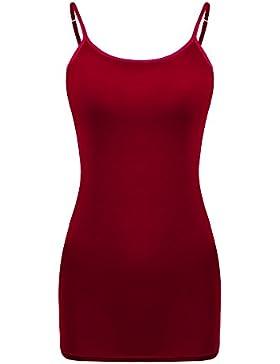 Satinior Camisola de Mujeres Camiseta sin Mangas Camisola de Tirante de Spaghetti Ajustable Camisola Larga Básica