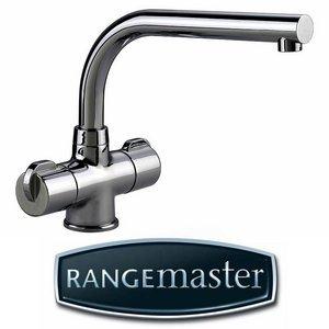 Rangemaster Aquadisc 3 Brushed Steel Kitchen Sink Mixer Tap TAD3BF