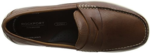 Rockport Total Motion Loafer Penny, Mocassins Homme Brown (tan Leather)