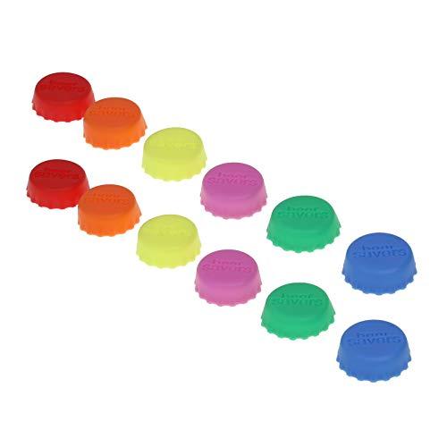 ronkorken, Beer Saver, Bier-Kapsel, Flaschenverschluss, Deckel für Flasche, Wein- und Saftflasche, Verschluss, Deckel(Farbe:rosa, gelb, orange, grün, rot, blau) ()