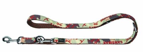 Hunter Verstellbare Führleine Krazy Sansibar, Band Camouflage/ unterlegt Nylon braun, 20/200