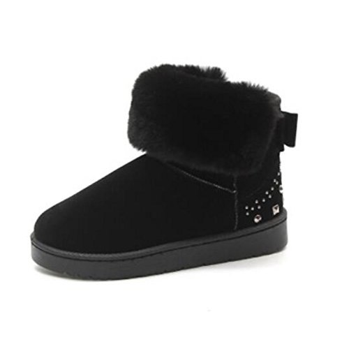Zapatos Hsxz Mujer Pu Botas Otoño Invierno Comfort Chunky Tacón Punta Redonda Zapatillas / Casual Desgaste Botines Rosa Gris Verde Negro Rosa