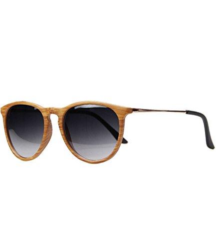 caripe Retro Sonnenbrille Damen Herren Hornbrille Vintage Brille -