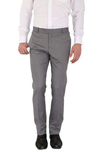 Flags Men's Formal Trouser PV Stretch Light Grey Colour (011) Size 40