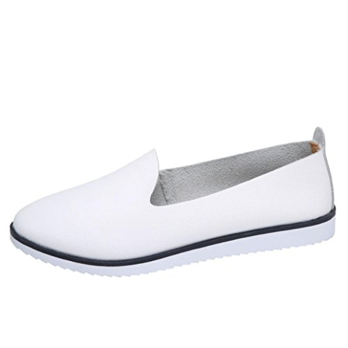 Mocassins en Cuir Femm,Overdose Automne Hiver Chaussures Plates Sports Casual Slip on Loafers