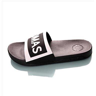 Slippers & amp da uomo;Estate slingback gomma casuale piani del tallone sandali rossi bianchi sandali US8.5-9 / EU41 / UK7.5-8 / CN42