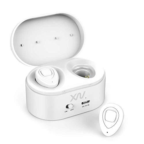 Auriculares inalámbricos BluetoothV4.1 - Mini auriculares inalámbricos Bluetooth Efecto estéreo XIAOWU con micrófono incorporado y base de carga para iPhone 8, 7 Plus, Samsung, iPad, dispositivos Android