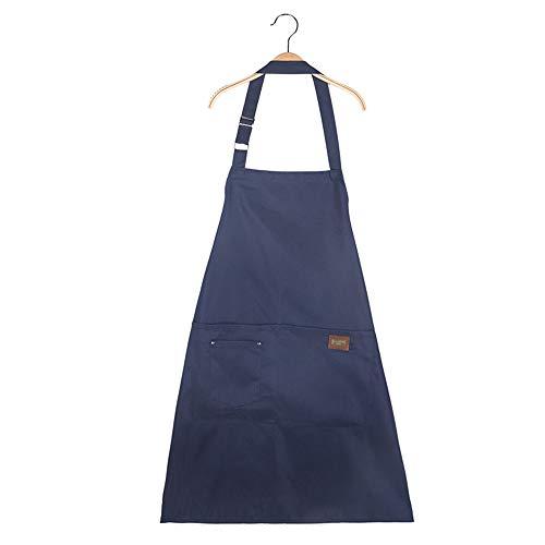 Schürze Küche Wasserdicht Und Ölbeständig Anti-Fouling Haushaltskocharbeiten Taille Maniküre Shop Café Kittel Männer Und Frauen Overalls Blau ()
