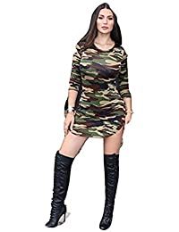 fcf0b996c0 Betty-Boutique Women s Sexy Camouflage Army Print Bodycon Dress Size 10 -12.S6298