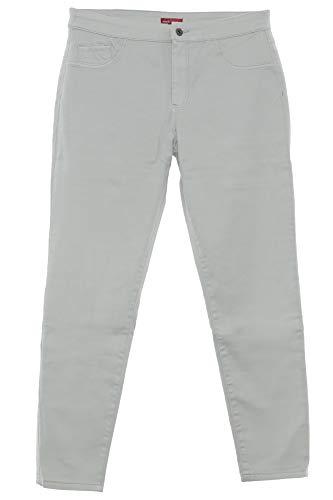 X-Two Eadan Jeans Hose Pants Stretch Gabardine Damen Lagenlook Plusgröße Slim, Farbe:Hellgrau, Damengrößen:52 -
