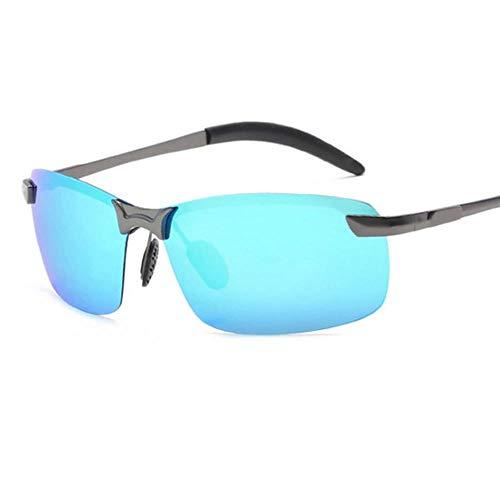 ZHOUYF Sonnenbrille Fahrerbrille Halb Grenzenlos Polarisierte Sonnenbrille Herren Uv400 Verspiegelt Sonnenbrille Retro, E