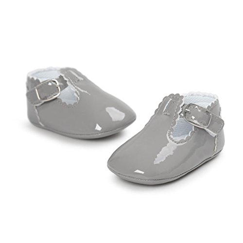 FEITONG Baby Leder Prinzessin Soft Sohle Schuhe Freizeitschuhe Grau