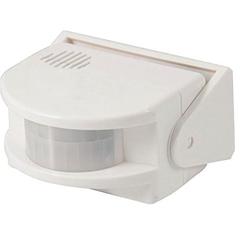 Electraline 58413 - Detector sensor de presencia con alarma, color blanco
