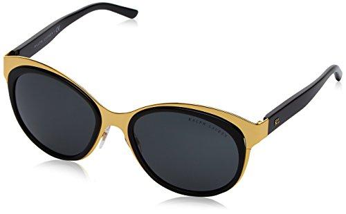 Ralph Lauren Damen 0Rl7051 900487 58 Sonnenbrille, Shiny Gold/Dark Gray