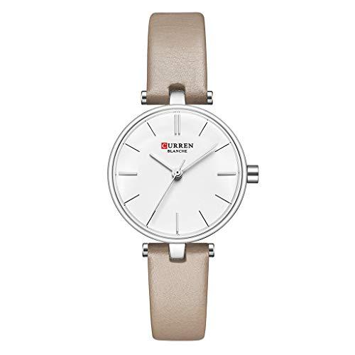 REALIKE Damen Armbanduhren Mode Klassisch Keine Nummer Wasserdicht Lederband Uhren Einfach Britische Artart und Weise Neue High End Quarzstahlband Geschäftsuhr Business Freizeit