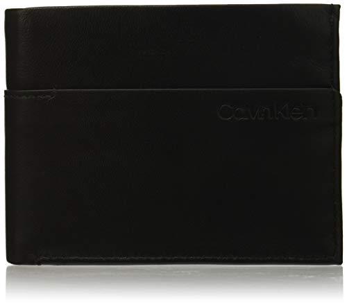 Calvin Klein Sliver 5cc Coin - Portafogli Uomo, Nero (Black/Steel Blue), 1x1x1 cm (W x H L)