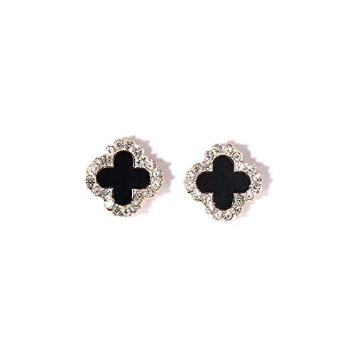 chenk/925 Reinem Silber Kleeblatt Ohr Studs Ohrringe Weiblich Diamond/Rose Gold Einfache Temperament Anti - Allergie.1.8 ()