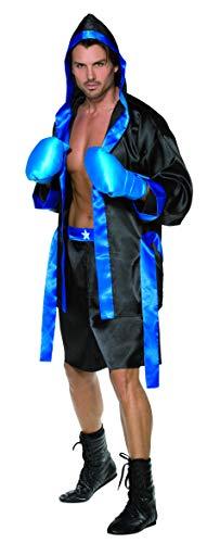 (Smiffys, Herren Boxer Kostüm, Robe, Shorts, Gürtel und Boxhandschuhe, Größe: M, 36391)