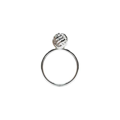 KLUNKER Ring/maritim nautisch segeln filigran originell Yacht Zierknoten Diamantknoten Verlobungsring Affenfaust / 925 Sterling Silber/handgemacht