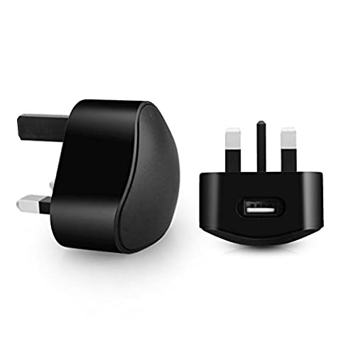 Aulola® CE Certificated TC136 Black 5V 1A 3PIN Universal UK Plug USB Port AC Power Adaptor Wall Charger Dock Travel Mains Charger Compatible with Apple iPhone 6 6 Plus 5S 4S 5C 5 4 iPod Samsung Galaxy S6 S5 S4 HTC LG Sony / MP3 MP4 Player Charger