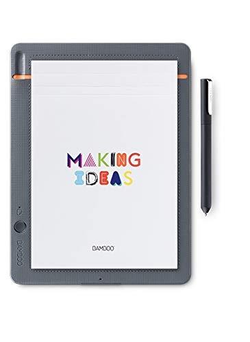 Wacom Bamboo Slate Smartpad A5 – Kleines Notepad mit Digitalisierungs-Funktion inkl. Eingabestift mit Kugelschreibermine – Kompatibel mit Android und Apple - Für Bamboo Stift