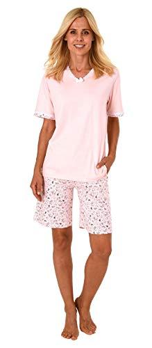 Rosa Kurzarm-pyjama (Normann Damen Shorty-Pyjama Kurzarm - auch in Übergrössen erhältlich bis Grösse 60/62-191 205 90 214, Farbe:pink, Größe2:44/46)