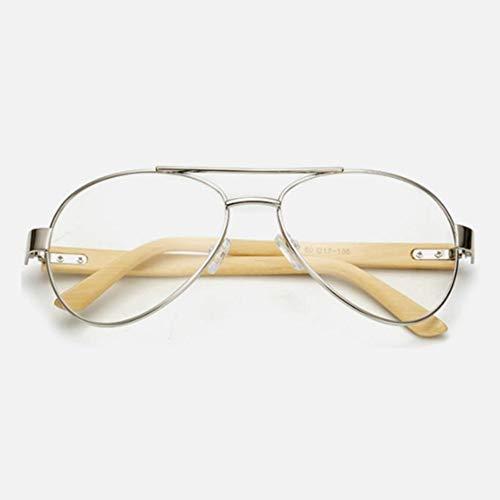 YYXXZZ Sonnenbrillen Holz Sonnenbrille Männer Luftfahrt Frauen SonnenbrilleHolz Brillen Bambus Lünette Rahmen Mann Brillen, Jin Ming