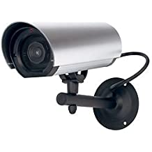 Zapatillas cámara de vigilancia falsa falsa a LED rojo, estanca para exterior