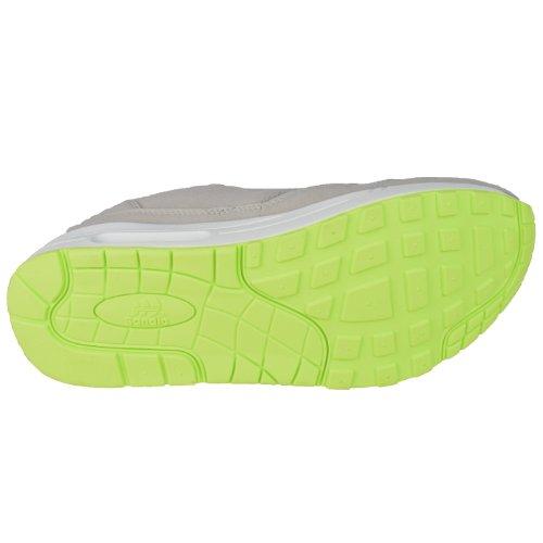 Sportschuhe für Herren, leicht und bequem, Gr. 41 bis 46 hellgrau-gelbgrün
