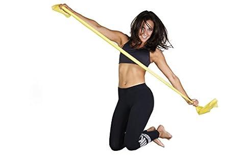 Move Yourself   2 Meter langes Fitnessband in Premiumqualität   Ideal für Allergiker   hypoallergen & puderfrei   mit Türhaken zur Befestigung   erfüllt REACH-Richtlinien   inkl. hochwertigem Übungsplakat mit wissenschaftlich fundierten (übungen Fürs Fitnessstudio)