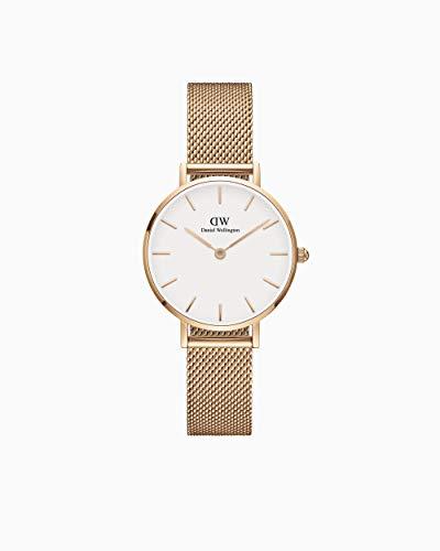 daniel wellingt on orologio analogico quarzo donna con cinturino in acciaio inox metalrose dw00100219 originale - offerta !!
