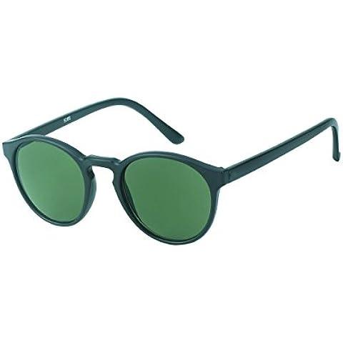 CHIC de Net gafas de sol redondo John Lennon Vintage 400UV Cerradura Puente estrecho Unisex, verde