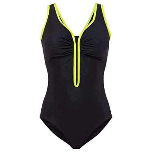 Asalinao Damenbadebekleidung, Badebekleidung, einteiliger Badeanzug, Abnehmen, Rüschen, Sportbadebekleidung, Strandbekleidung