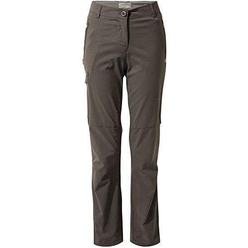 Craghoppers NosiLife Pro II Hose Damen - Regular Version - Outdoorhose mit Schutz vor Insekten, Charcoal, EU 38 (12 Long Leg)