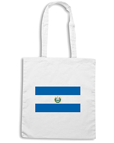 T-Shirtshock - Borsa Shopping TM0186 El Salvador flag Bianco