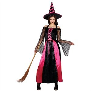 Unbekannt Ladies Pretty Pink Witch (M) Costume 14-16 Fancy Dress (Halloween)
