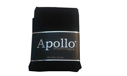 Damen Capri Leggings Seamless in verschiedenen Farben Farbe Schwarz Größe L/XL (Damen-seamless-capri)