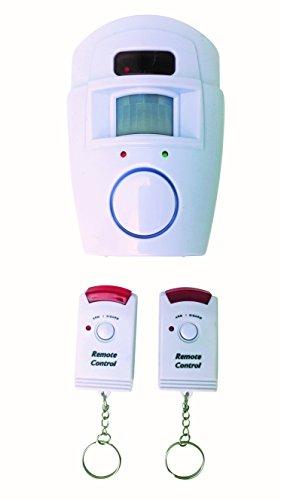 Intrusion Mini (HomeSecure Euro Zylinderschlösser Tür Barrel ANTI alarme02Mini Alarm mit Bewegungserkennung mit 2Fernbedienungen)