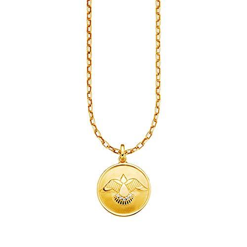 Cai Damen Anhänger mit Kette 925/- Sterling Silber 50cm Glänzend Zirkonia gelb 500245257-50