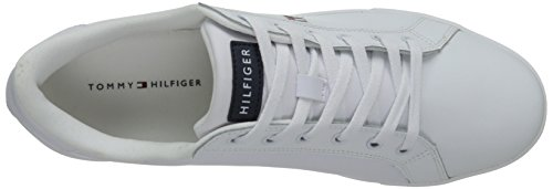 Tommy Hilfiger Flag 14 Cuir Baskets White Multi