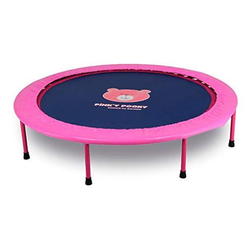 Trampolini elastici per interni trampolino elastico fitness trampolino super salto training mini trampolino indoor pieghevole per saltare (color : pink, size : 50 inch)