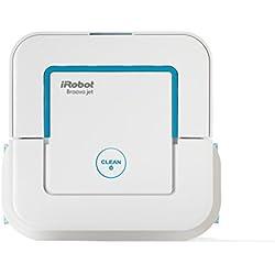 iRobot Braava jet 240 Wischroboter (für Küchen, Badezimmer und andere kleine Bereiche, Reinigt Räume bis zu 25m²) weiß